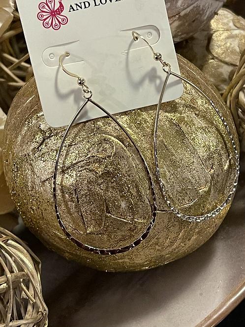 Oval Goldtone Earrings