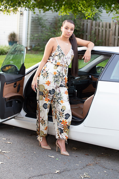 All Over Floral Printed Jumpsuit