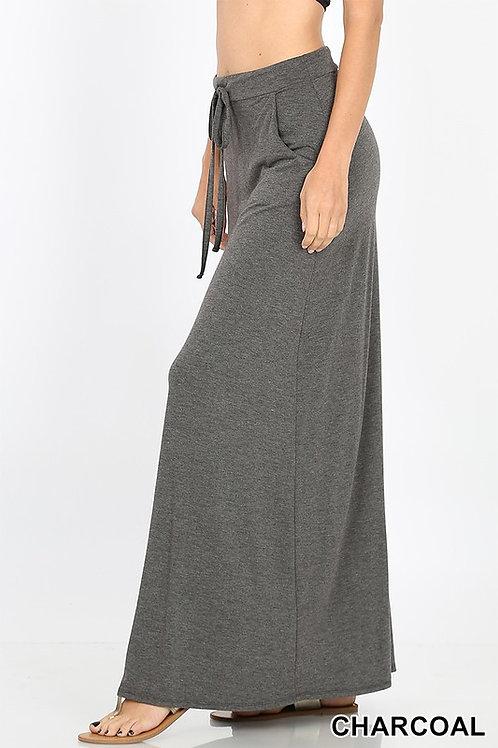 Long Charcoal Maxi Skirt