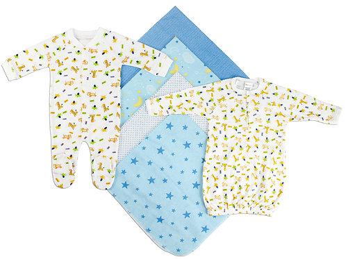 Newborn Boys 6 Piece Layette Set