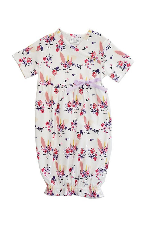 White floral baby romper