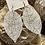 Thumbnail: White leaf earrings