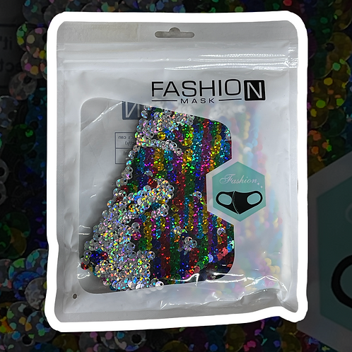 Multicolor Sequin Face Mask