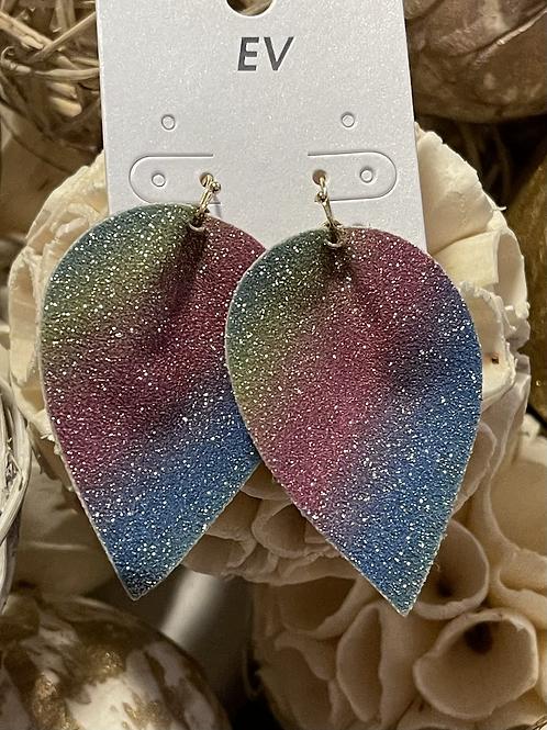 Multicolor Leather Earrings