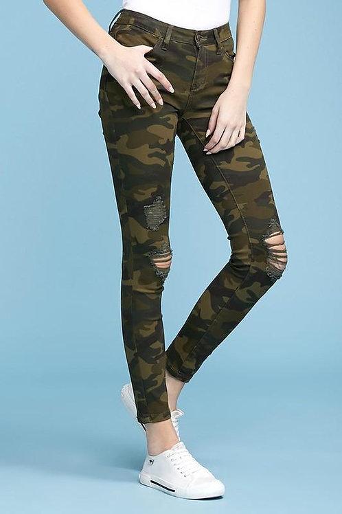 Judy Blue Camo Print Skinny Jeans - Plus
