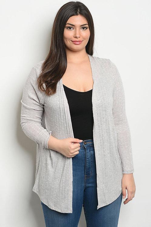 Gray Plus Size Cardigan