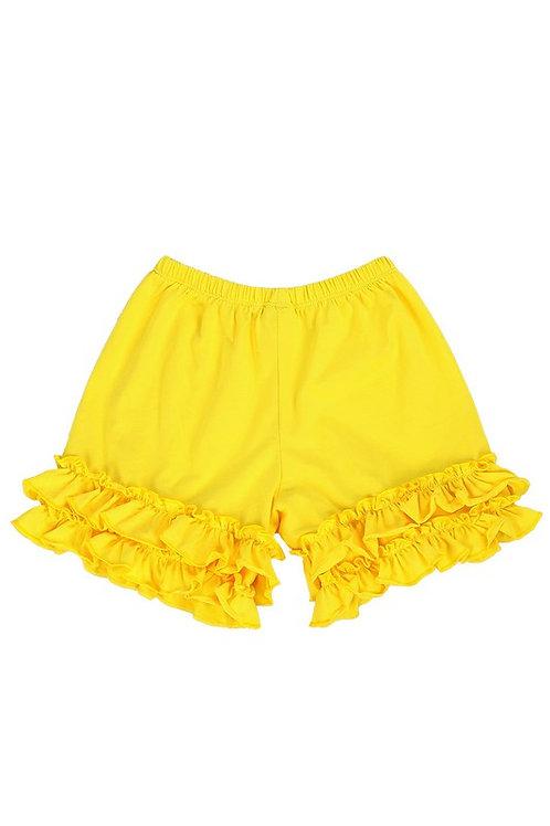 Happy Yellow Ruffle Shorts