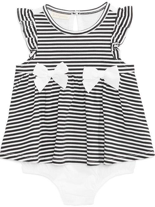 Baby Girls Striped Skirted Romper