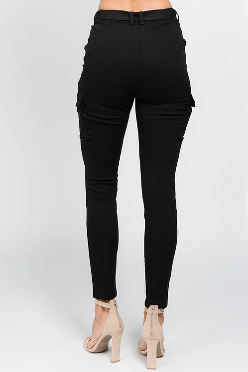 High Waist Skinny Cargo Pants