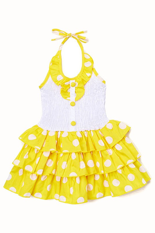 Perfect 3 Tiers Ruffles Tutu Cotton Dress