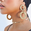 Thumbnail: Interlocking Textured Circle Drop 18k Gold Plated Earrings