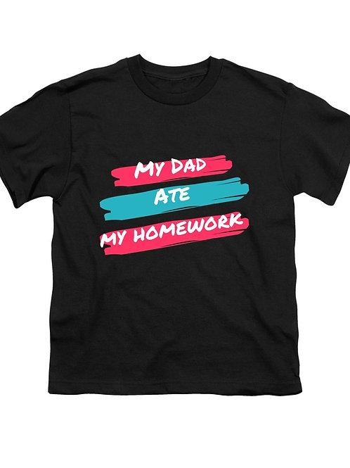 My Dad Ate My Homework - Youth T-Shirt