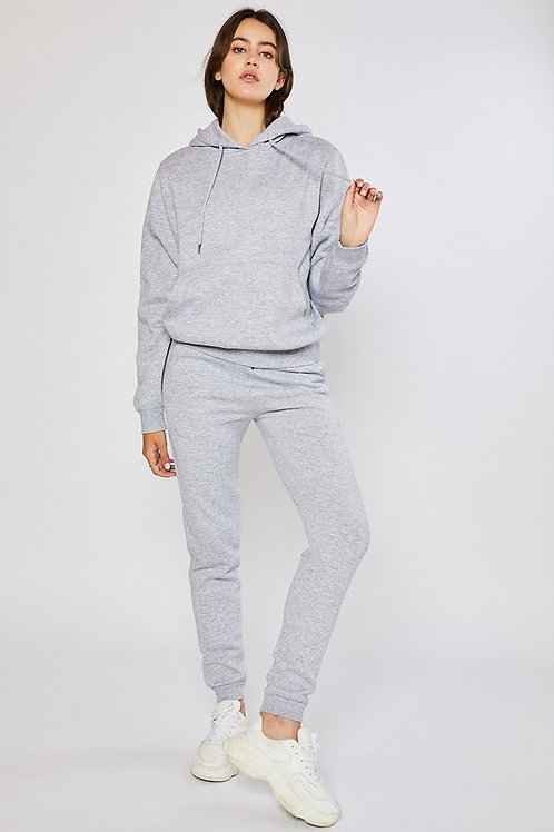 Grey Pullover hoodie with joggers