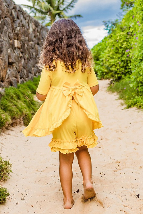 Yellow Ruffle Shorts and Top
