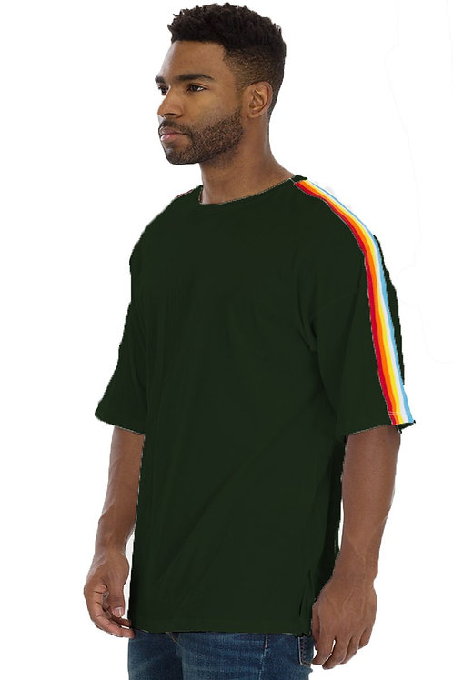 FULL RAINBOW TSHIRT- HUNTER GREEN