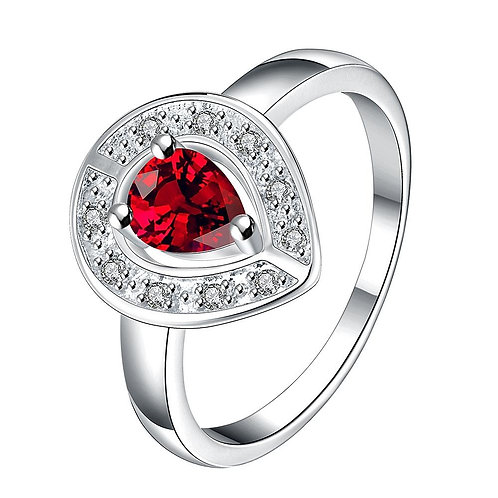 Red Swarovski Elements Oval Cut Pretty Ring