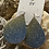 Thumbnail: Blue and Lime Green Leather Earrings