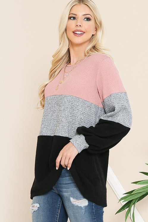 OVERSIZE COLOR BLOCK TUNIC