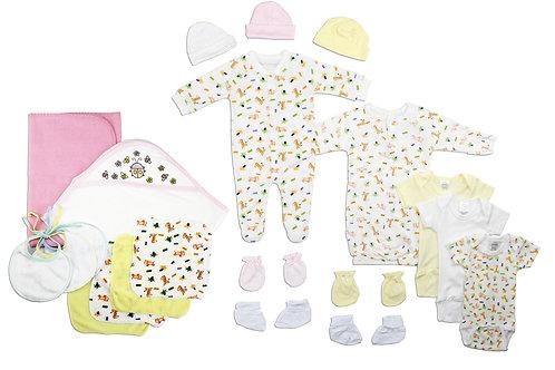 Newborn Baby Girls 21 Pc Layette Baby Shower Gift