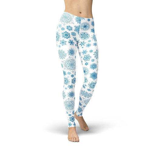 Jean Light Blue Snowflake Leggings