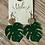 Thumbnail: Fun Green Leaf Earrings