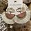 Thumbnail: Cream fan tassel earrings