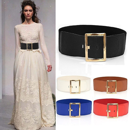 Women Ladies Waist Belt Body Belt Wide Elastic Belt Dress Accessories