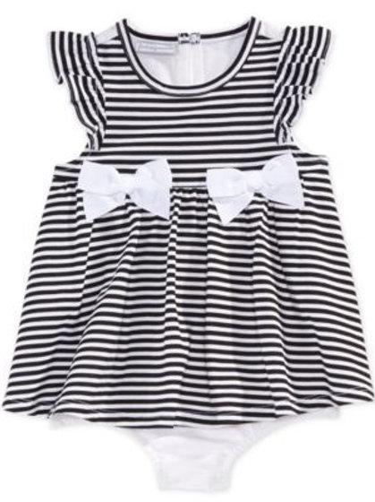 Black and White Stripe Sunsuit