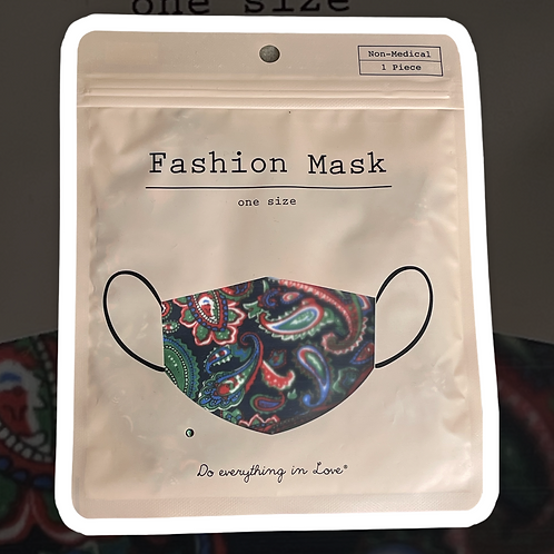Paisley Fashion Face Mask