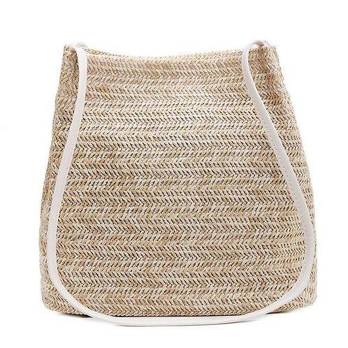 Simple Women Straw Bags Bohemian Beach Shoulder bags Wicker Females