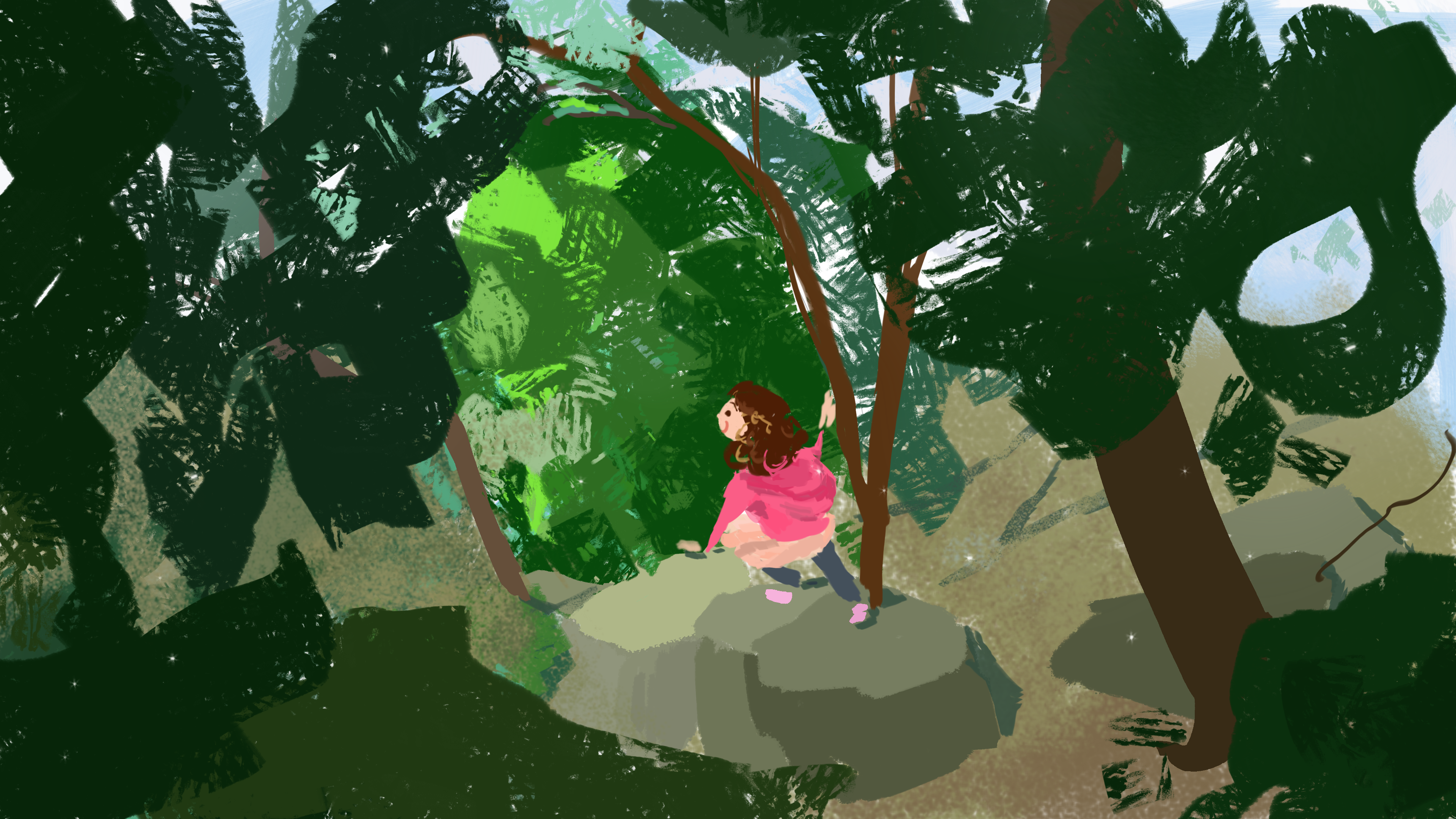forest walk (color sketch)