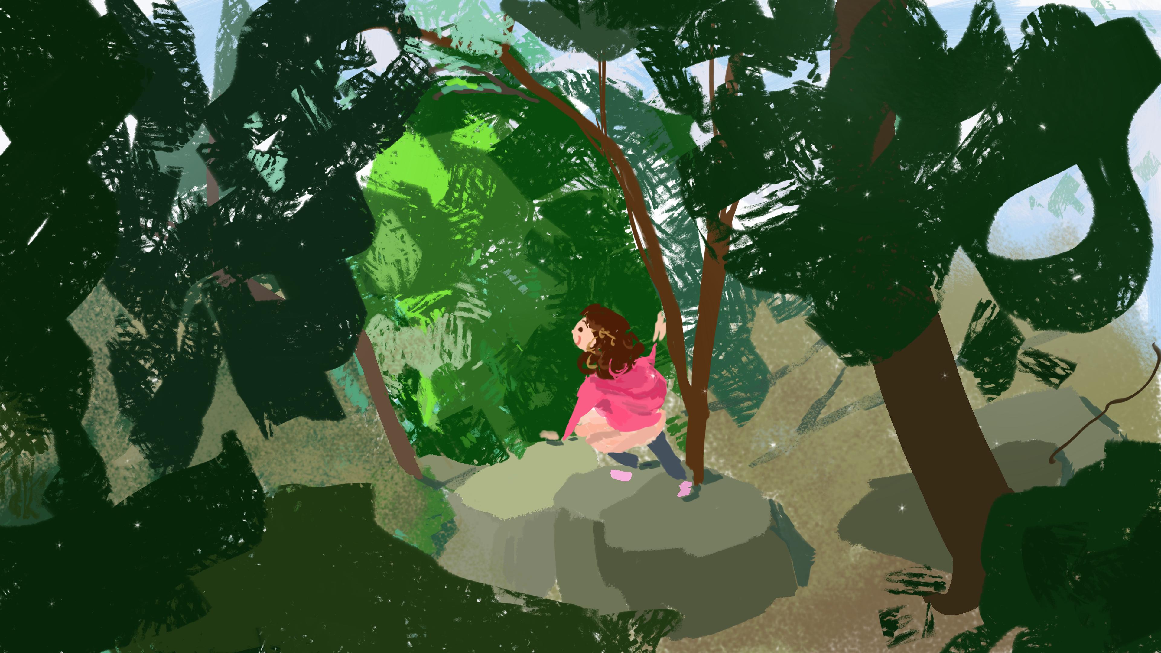 forest walk (color sketch)