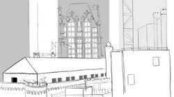 line drawing: view