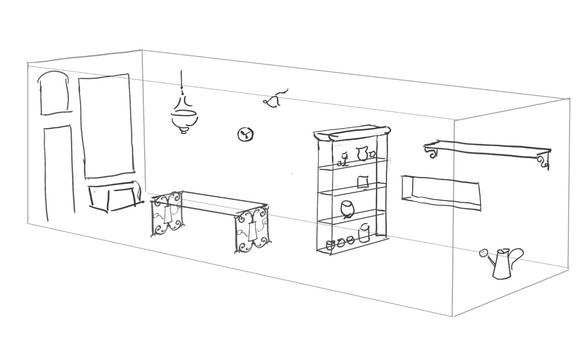 plant shop infrastructure sketch