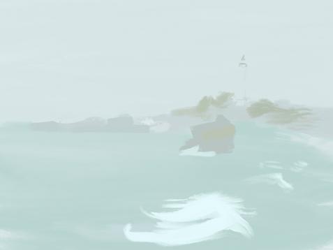 Biarritz fog, color