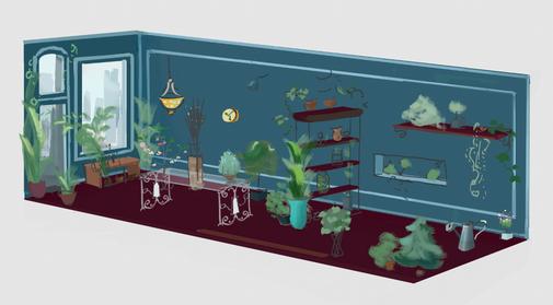 plant shop interior