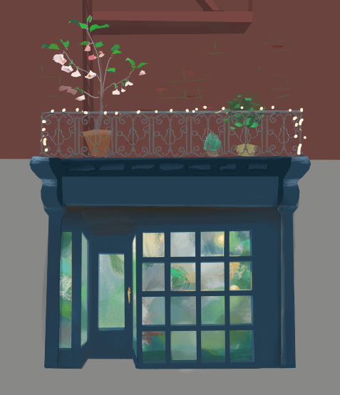 plant shop facade: early exploration