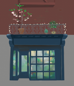 plant shop facade: early exploration