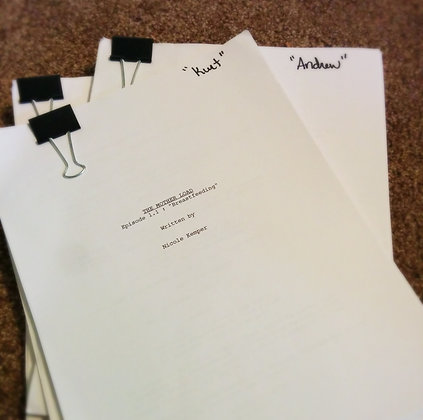 Signed Original Draft Scripts from Staged Reading