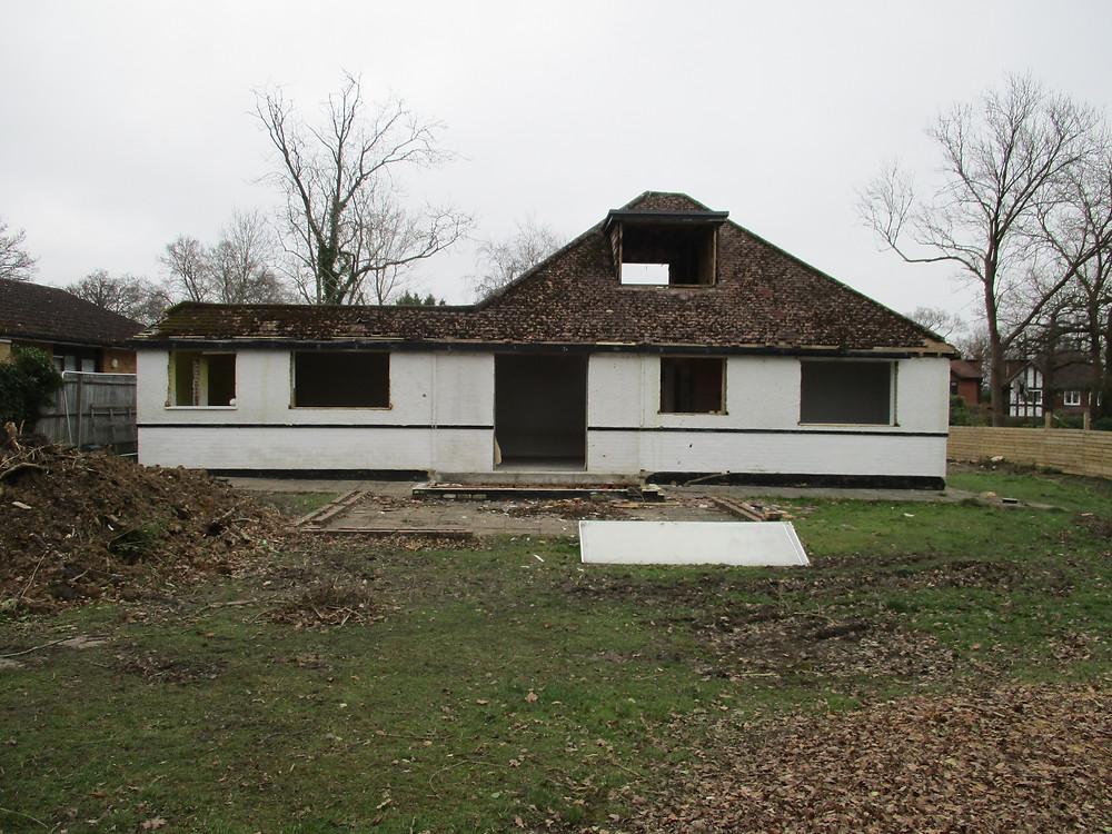 House Demolition in Fetcham, Surrey