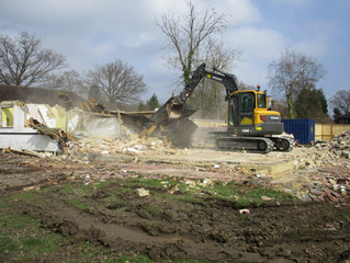 In Pictures - House Demolition in Fetcham, Surrey