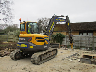 Removing the Concrete Slab & Foundations