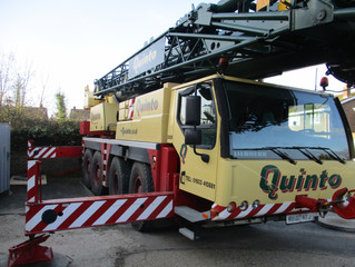 70 Tonne Crane at Rayleigh, Essex