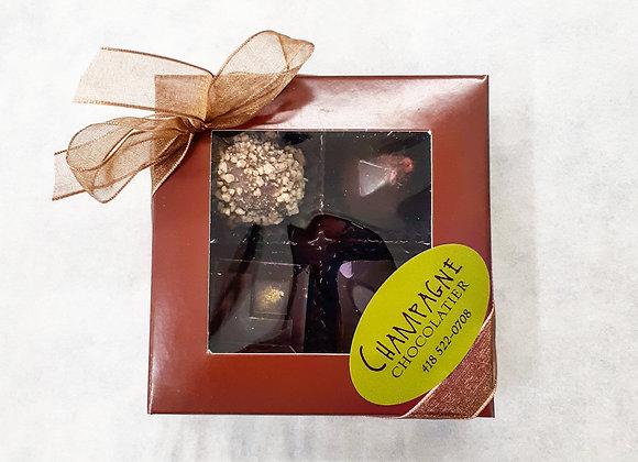 Boîte de 4 chocolats fins