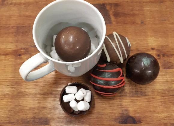 Boule de chocolat chaud
