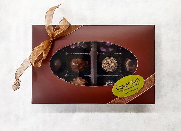 Boîte de 12 chocolats fins