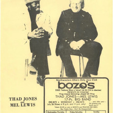 Vintage ad for 1978 Thad Jones/Mel Lewis Orchestra performance in Toledo, OH
