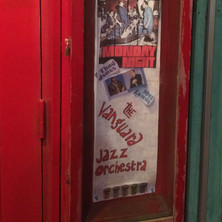 Display box poster for the VJO's 50th anniversary celebration at the Village Vanguard, February 2016