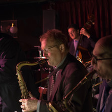 L to R: Dick Oatts, Rich Perry, David Wong, & Gary Smulyan at the Village Vanguard, February 2016