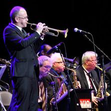 Scott Wendholt solos during 2019 Lionel Hampton Jazz Festival, University of Idaho